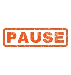 Pause Rubber Stamp vector image