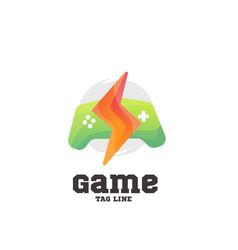 play game logo vector image