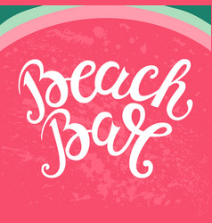 Print with watermelon and lettering the vector