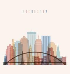 Rochester state new york skyline vector