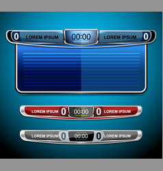Scoreboard broadcast and lower thirds template vector