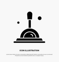 Search magnifying glass deep search solid glyph vector