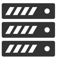 server flat icon vector image