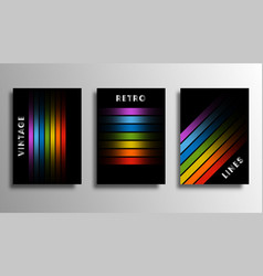 set cover with colorful gradient lines for vector image