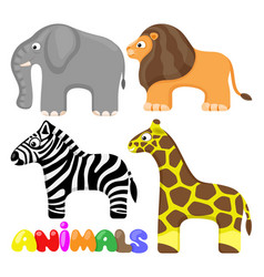 set cute african animals vector image