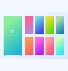 set modern smartphone screen gradient soft vector image