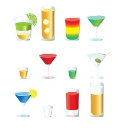 Set of cocktails vector image