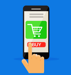 shopping online by phone vector image