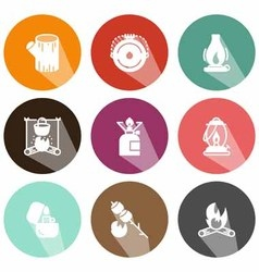Solid fuels icons shadow vector image