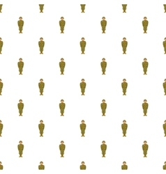 Soviet uniform pattern cartoon style vector image