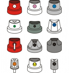 Spray can caps vector