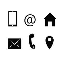 telephone and internet icon vector image