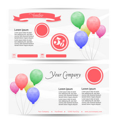 template for a birthday voucher vector image