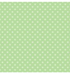 Tile pattern with polka dots on green background vector image