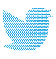 Twitter bird on a background vector