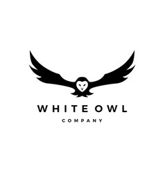 White owl logo icon vector