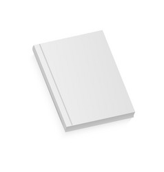 white realistic blank brochure vector image