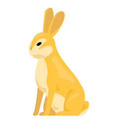 Wild rabbit icon cartoon style vector