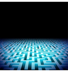 Abstract labyrinth in the darkness vector image