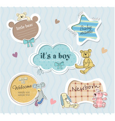 Childrens borders for boy vector