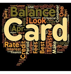 Guide To The Best Balance Transfer Credit Cards vector image vector image