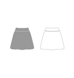 skirt grey set icon vector image