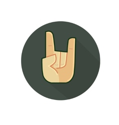 Arm symbol Rock and Roll Style vector image