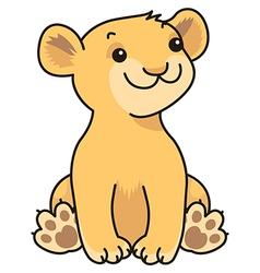 cartoon lion baby vector image