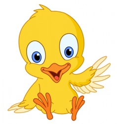 cute chick vector image vector image