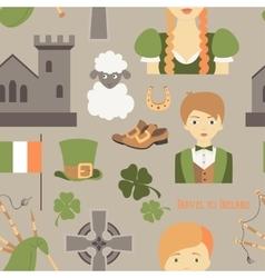 Travel to Ireland pattern vector image