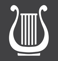 Ancient greek lyre glyph icon music vector
