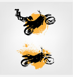 flying motorcycle element vector image