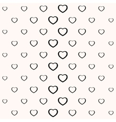 Seamless simple minimalistic heart background vector image vector image