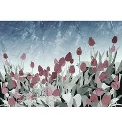 Tulip Vintage Background vector image vector image
