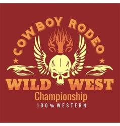 Wild west - cowboy rodeo emblem vector image vector image