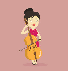 woman playing cello vector image