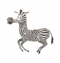 Zebra fun vector image