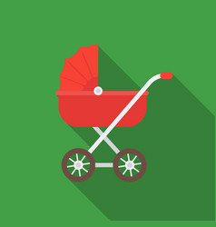 baby transport icon in flat style isolated on vector image