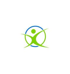 People sport active logo vector