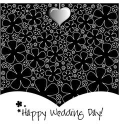Wedding day background or card vector