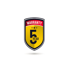 5 year warranty logo icon template design vector