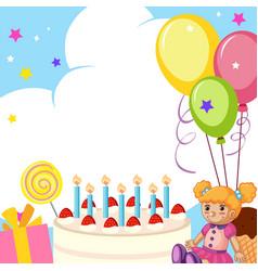 a cute birthday card vector image