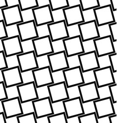 Abstract black and white angular square pattern vector image