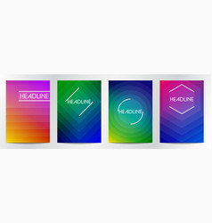 abstract gradient color for book cover brochure vector image
