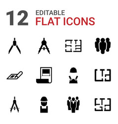 Architect icons vector