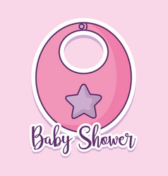 Baby shower card with bib vector