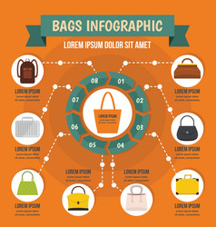 Bags infographic concept flat style vector