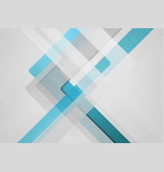 blue grey geometric abstract tech background vector image