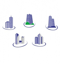 buildings symbols vector image