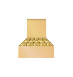Cardboard box with bullets 9mm ammo isolated in vector